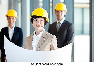 construction businesswoman