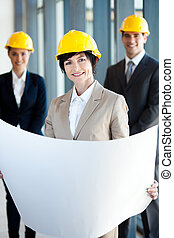 middle aged female architect