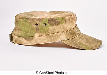 Military cap side view.
