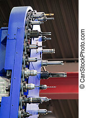 Milling head of a CNC milling machine