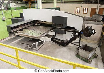 milling machine at work
