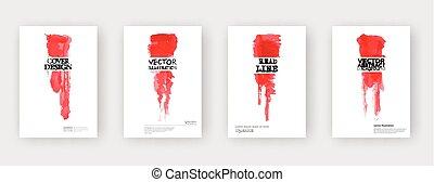 Minimal covers design. Cool paint brush. Vector illustration