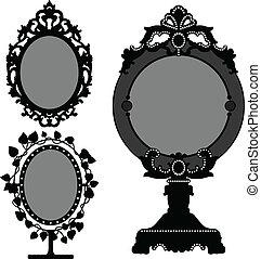 Mirror Ornate Old Vintage Princess