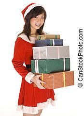 Miss Santa and Presents 2