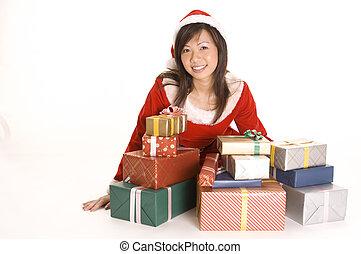 Miss Santa and Presents