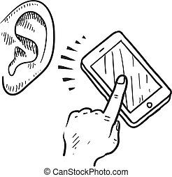 Mobile communication sketch