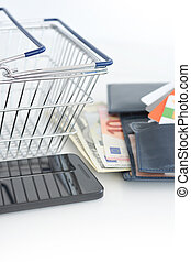 Mobile phone payments or e-commerce
