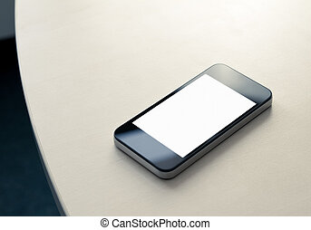 Mobile Smartphone On The Table