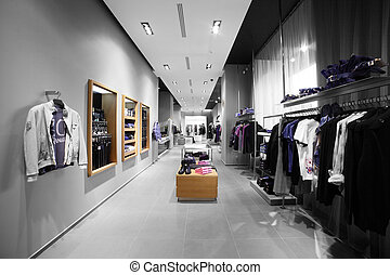 modern and fashion clothes store