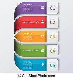 Modern business infographics options banner.
