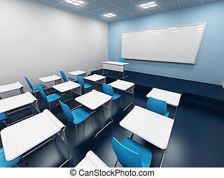 modern classroom. 3d rendering