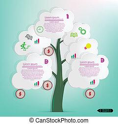 Modern Design Minimal style infographic template. vector illustration