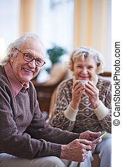 Modern elderly man