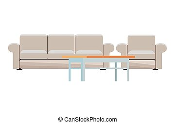 modern furniture cartoon