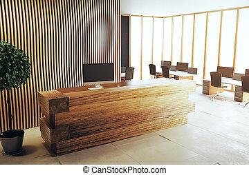 Modern interior with reception