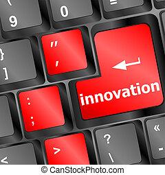 Modern keyboard Innovation text. Technology concept