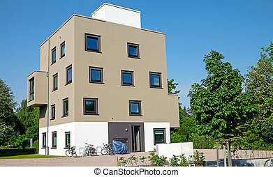 A modern mulitfamily residence seen in Germany