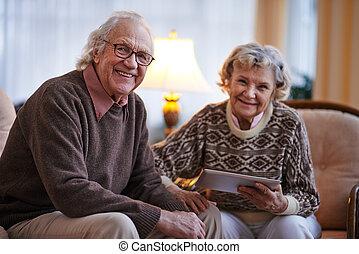 Modern senior couple