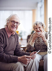 Modern senior man