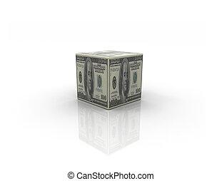 Money box on white background