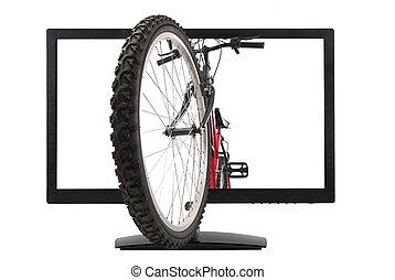 Monitor and mountain bike