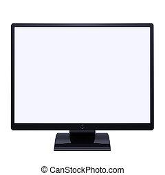 Monitor computer LCD TV screen blank desctop displa