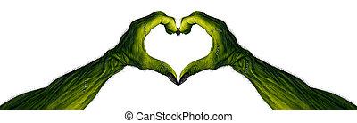 Monster Hands In A Heart Shape