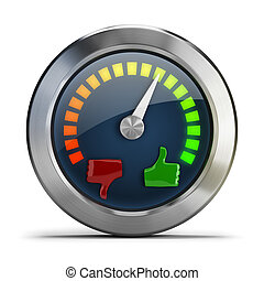 Mood meter. 3d image. Isolated white background.