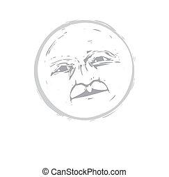 Moon Face #1