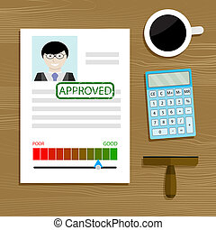 Mortgage and loan approved