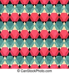 mosaic seamless pattern with grunge effect