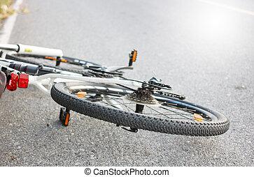 Mountainbike on the ground