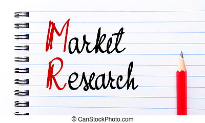 MR Market Research written on notebook page