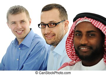 Multicultural young business team