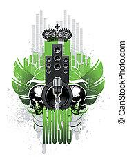 Musical coat of arms emblem