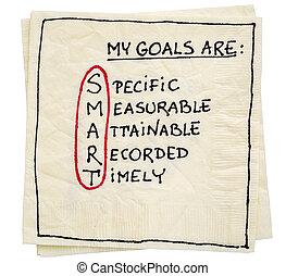 my goals are smart - napkin concept