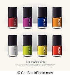 Nail polish?Colorful Realistic Vector illustration