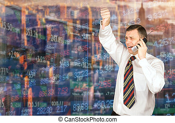 Natural emotions broker on the stock exchange