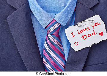 Necktie and Father's Day card.