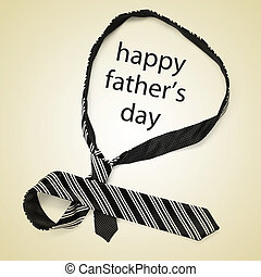 necktie and sentence happy fathers day
