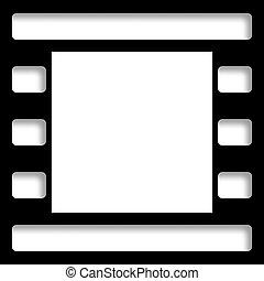 Negative Photo Film Frame