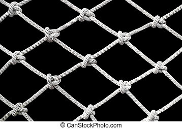 Net on Black background