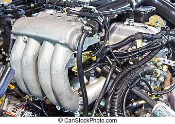 New engine of a modern car truck