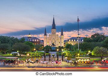 New Orleans, Louisiana at Jackson Square