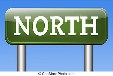 north geographical compass direction north pole