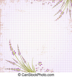 Notepad Notebook in a Cage With Lavender Frame