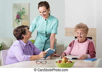 Nurse working in residential home