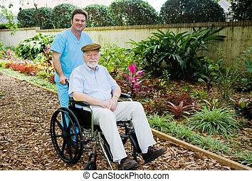Nursing Home - Walk in the Garden