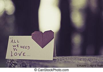 o amor esta no ar
