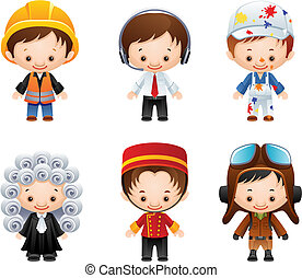 Vector illustration - set of people occupations icons